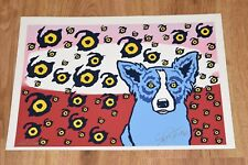 George Rodrigue Blue Dog I See You You See Me Split Font Unique Silkscreen Print