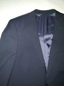 Saba Single Breasted Dark Blue Mens Jacket Size 42 100% Wool