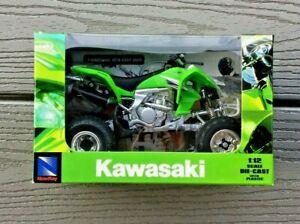 NEW-RAY 1/12 KAWASAKI GREEN KFX 450R 2009 ATV DIE CAST W/ PLASTIC PARTS 01360 FS