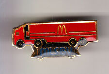RARE PINS PIN'S .. MC DONALD'S RESTAURANT CAMION TRUCK ROUGE MLS BV  EUROPE ~14