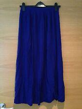 New Look Size 8 Deep Blue Maxi Full Length Skirt Floor Christmas Party
