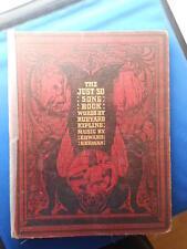 THE JUST SO SONG BOOK: RUDYARD KIPLING: RARE FIRST EDITION