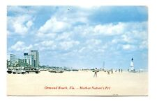 Ormond Beach Florida Postcard Mother Nature's Pet Sailboat Condos Cars Vintage