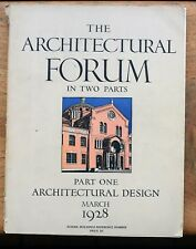 OLD MAGAZINE The Architectural Forum School Buildings Part One Design 1928