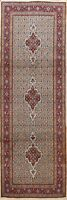 3'x8' Vintage Traditional Geometric Runner Rug Hand-knotted Oriental Wool Carpet