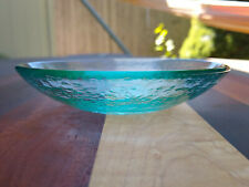"""Fire and Light Recycled Glass Aqua 5"""" Dipping Dish Made in USA"""