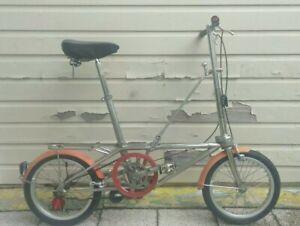 Vintage DaHon Convertible Folding Bike Stainless Steel Single Speed w/Bag