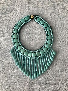 Moroccan Turquoise Heavy Necklace, Tribal Berber Adornment.