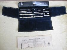 ANTIQUE DRAFTING DRAWING SET IN EXCELLENT CONDITION.
