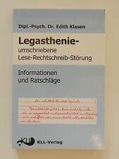 Legasthenie Edith Klasen umschriebene Lese Rechtschreib Störung KLL Verlag