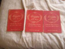 Lot 1947, 1948, 1949 Metropolitan Opera House Programs