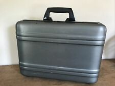 Zero Halliburton Aluminum or Polycarbonate Briefcase Gray Medium Attache Case