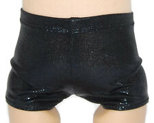 "SHINY BLACK BOY SHORTS - Dance/Cheer - Doll Clothes Fits 18"" American Girl Dolls"