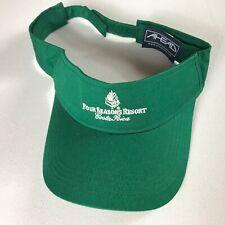 Four Seasons Resort Visor Costa Rica Adjustable Golf Hat Green Mens Adult Sun