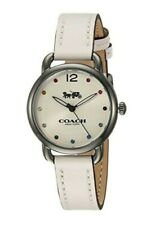 Coach Woman's Watch Delancey White Leather Strap Crystal 14502915  $225