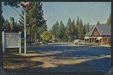 CA Graeagle CHROME c.1960 STREET SCENE Cars SIGN Chevron by Eastman No.S-652