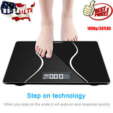 Digital Electronic LCD Personal Glass Bathroom Body Weight Weighing Scale 397lb