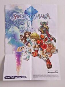 Sword of Mana - A4 Folded Poster (Fire Emblem - Nintendo VIP) - GBA Game Insert