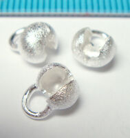 4x STERLING SILVER STARDUST CRIMP BEAD COVER 5.7mm J160
