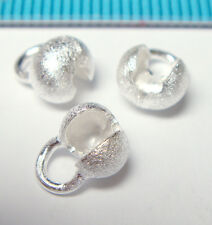 20x STERLING SILVER STARDUST CRIMP BEAD COVER 5.7mm J160A