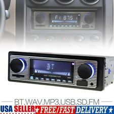 Bluetooth Vintage Car FM Radio MP3 Player USB Classic Stereo Audio Receiver US