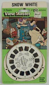 View-Master: Snow White (3) Reels 3002 NEW SEALED ON CARD 1987 Mattel Disney