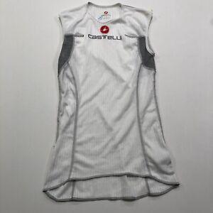 Castelli Rosso Corsa Mens Small Sleeveless Base Layer Cycling Shirt