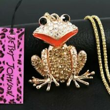 Betsey Johnson Frog Pendant Necklace
