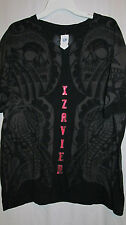 Nwt XZAVIER black grey red medieval true till death top xl mens $30 retail
