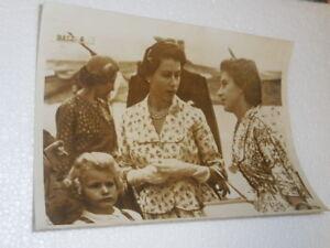 Queen mother and princess Margaret-Duke Edinburgh-Original vintage 1955 photo