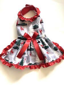 Handmade Christmas Doggie Dress Size Small