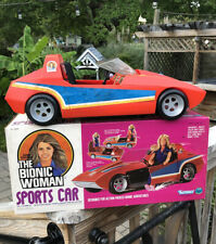 1977 KENNER THE BIONIC WOMAN SPORTS CAR WITH RED SHOES OPEN BOX