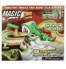 Magic Tracks Dino Chomp Glow in The Dark Racetrack Set 9 Feet Speedway NEW