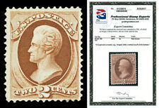 Scott 146 1870 2c Jackson Hard Paper Issue Mint F-VF OG Cat $300 with PSE CERT!