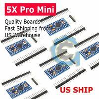 5pcs Arduino Pro Mini Board Free with Headers ATMEGA328P 16MHz 5V ATMEGA328