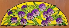PANSY ARCH STATIC WINDOW CLING STAINED GLASS EFFECT DOOR GLASS DECORATION DECAL