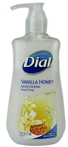 Dial Liquid Moisturizing Hand Soap Vanilla Honey 7.5 FL OZ Pump Bottle - 1 PK