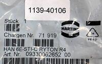 HARTING HAN 6E-STI-C RYTON R4 09330062652 00 Kontakteinsatz für Industriesteckv.