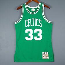 100% Authentic Larry Bird Mitchell Ness Celtic NBA Jersey Mens Size 40 M