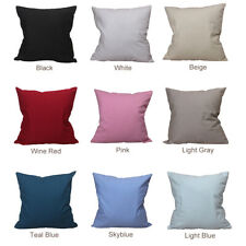CURCYA Canvas Cushion Covers 100% Cotton Pillowcase for Heat Transfer Printing