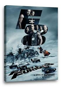 """FAST AND THE FURIOUS 8 CANVAS Fate Photo Poster Print Wall Art """"30x20 CANVAS"""