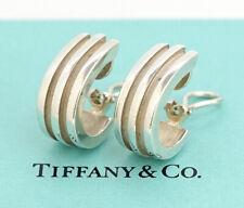 TIFFANY&Co Atlas 1995 Clip-On Earrings Silver 925 w/BOX v1900