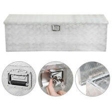 "49"" Aluminum Tool Box Tote Storage for Truck Pickup Bed Trailer Tongue W/Lock"