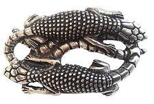 Gürtelschnalle Reptil silber