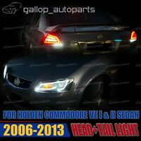 Fit Holden Commodore VE 1 2 2006-2013 Sequential Headlight and Red Lens Tailight