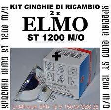 ★SPECIALE ELMO ST 1200 M/O-M KIT CINGHIE DI RICAMBIO + LAMPADA EFR 15 V 150 W★