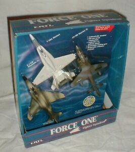 NEW 1989 Ertl Force One Fighter Squadron F-4 F-18A AV-8B Die Cast Fighter Planes