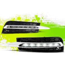 CHROME CLEAR LENS LED DRL OE BUMPER FOG LIGHT/LAMP PAIR FOR 10-14 CHEVY CRUZE