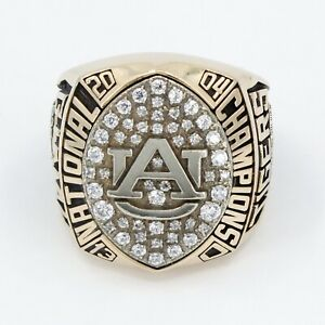 2004 AUBURN TIGERS College Football Championship Ring 10K SOLID GOLD, BALFOUR