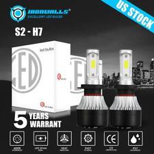 Pair H7 Led Headlight Lamp Bulb Conversion Kit High Low Beam Fog Lamp 6000K Hid